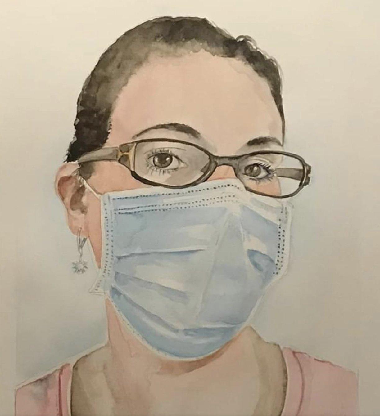 zorgmedewerker met mondkapje zorg voor elkaar