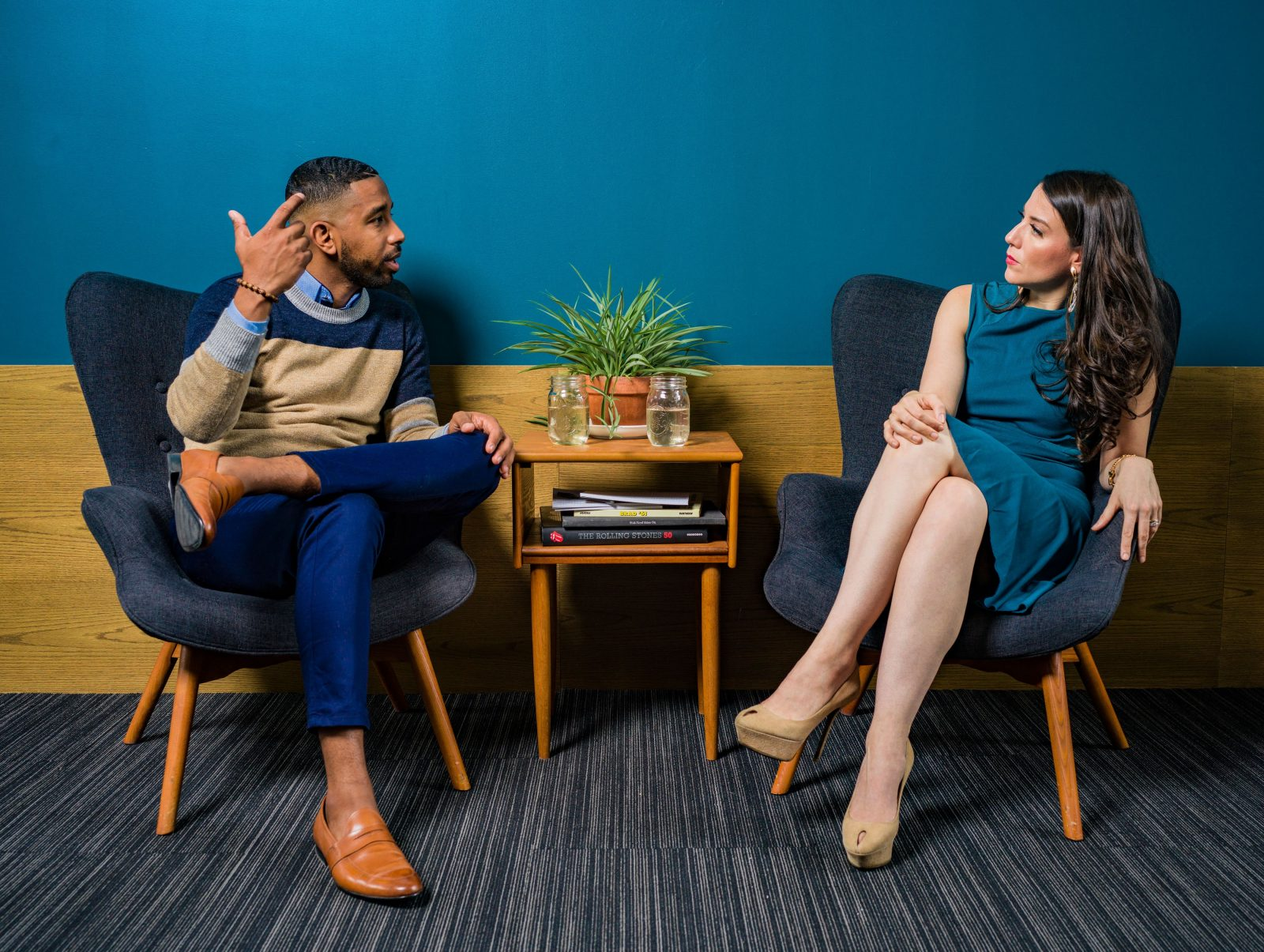 coachingsgesprek 2 mensen in gesprek