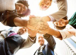 handen samen als team