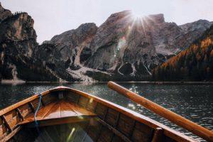 boot in bergmeer